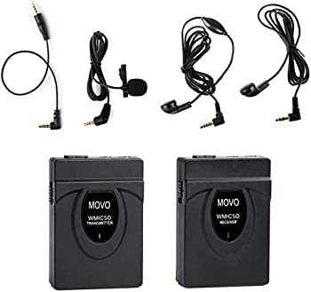 Movo Photo WMIC50 Camera-Mount Wireless Lavalier Microphone System