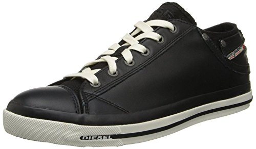 DIESEL Exposure iv Black White New Womens Leather Lo Top Trainers Shoes Boots-3