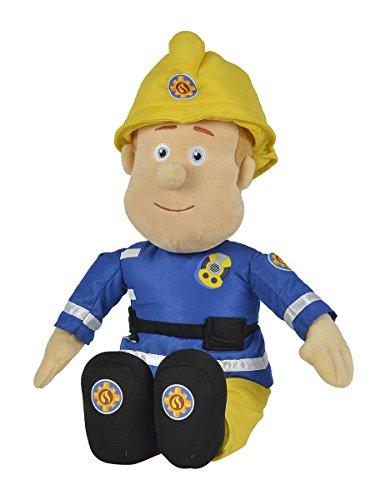 Simba 109252112 - Feuerwehrmann Sam Plüschfigur, mit Helm, 45cm groß, für Kinder ab 0 Jahren