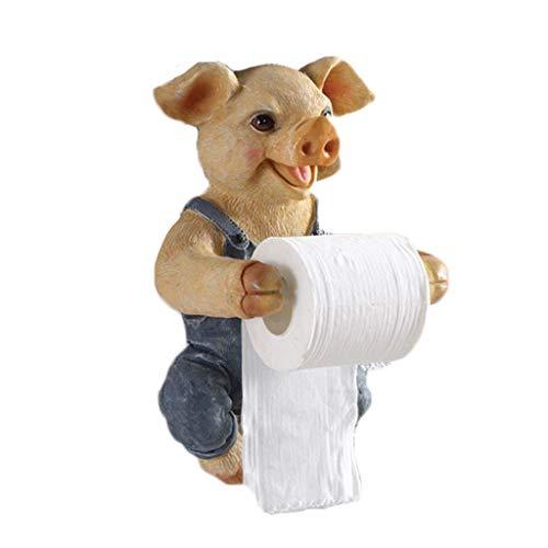 Badkamer Toiletpapier Handdoek Houder Creatieve Leuke Varken Wandsteun Zonder Boren Papier Roll Houder met Mobiele Telefoon Opslag Plank gfgfd Blue