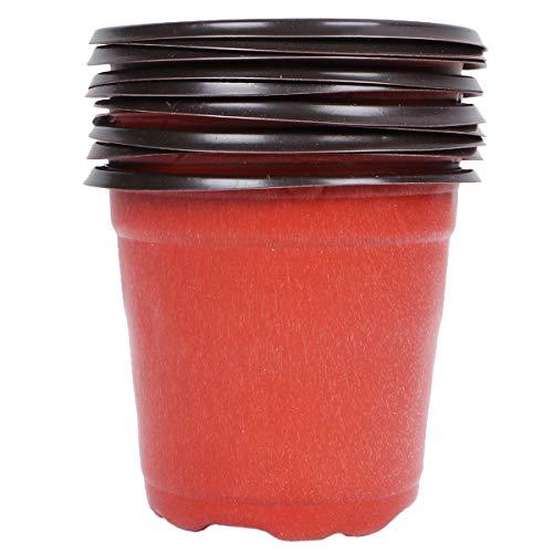 Yardwe 10 Piezas Macetas de plástico de 9 cm para Plantas pequeña macetas de vivero de plástico...