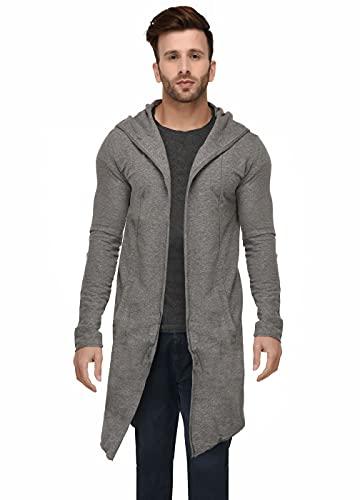 DENIMHOLIC Men's Cotton Hooded Cardigan