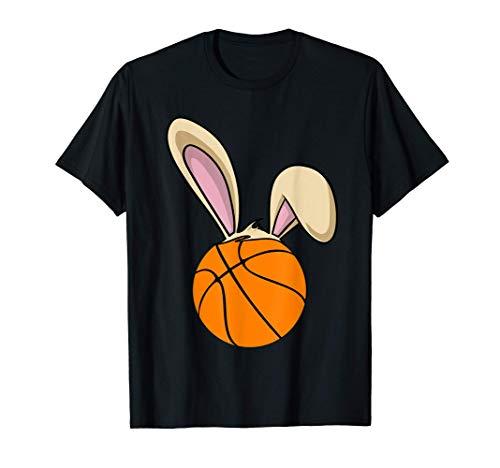 Baloncesto de Pascua feliz con orejas de conejo Camiseta