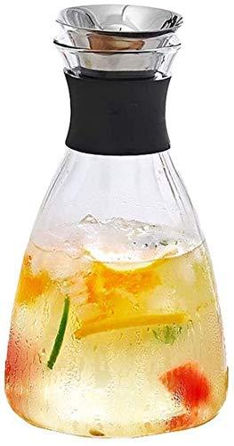 Teteras Taza Hogar Vidrio resistente al calor Botella de agua fría Taza blanca fría de alta temperatura Agua abierta Botella de jugo de gran capacidad Botella de agua con hielo Olla de corbata Re