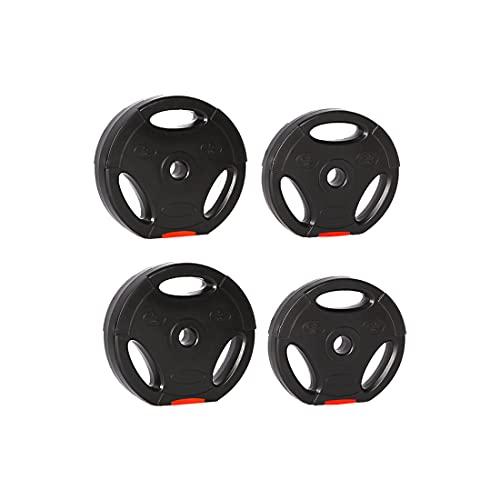 zoomyo Peak Power Discos de Pesas, Set de 4 Pesas con Agujero estándar de 30 mm, compatibles con Las Barras Cortas y largas habituales, con Tres Asas para el Entrenamiento Libre
