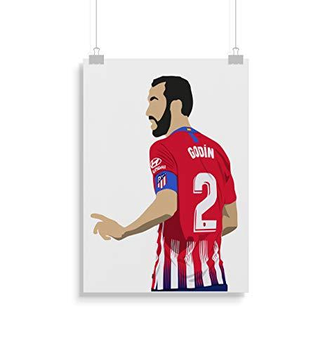 Diego Godin Poster - Drucken - Alternative Fußball - Wandkunst - Verschiedene Größen (Rahmen Nicht Inbegriffen)