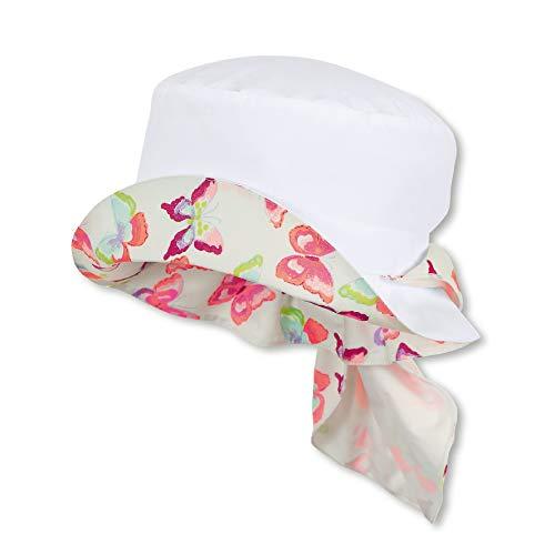 Sterntaler Hut für Mädchen mit Nackenschutz, Alter: 2-4 Jahre, Größe: 53, Weiß