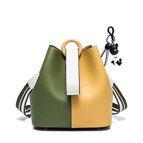 DEERWORD Damen Umhängetaschen Handtaschen Totes Henkeltaschen Schultertaschen Leder Orange Gelb