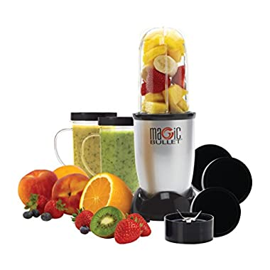 Magic Bullet (Silver) Blender/Mixer, 11-piece Set (Certified Refurbished)