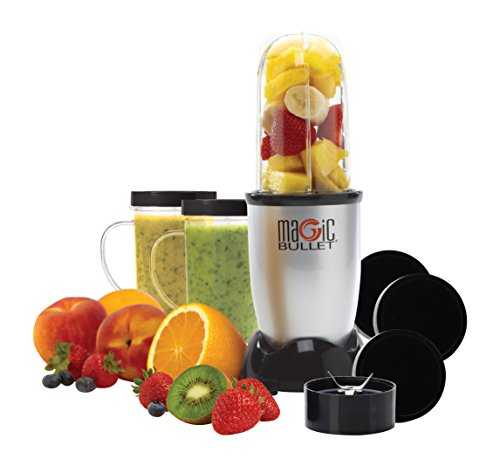Magic Bullet (Silver) Blender/Mixer, 11-piece Set (Renewed)