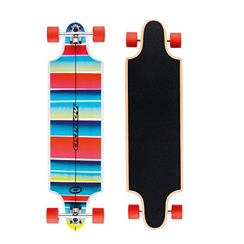 Osprey Erwachsene Longboard Stripe, Red/Blue/Yellow, 96.5 x 26 cm