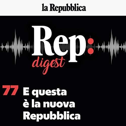 E questa è la nuova Repubblica copertina
