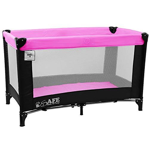 iSafe Rest & Play Luxury Baby Travel Cot Playpen - Purple 120 cm x 60 cm