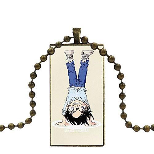 TUDUDU para Hombres Mujeres Lámpara De Cristal Galaxy Colgante Mujeres Bronce Plateado Collares Joyería Anime Serie Detective Conan