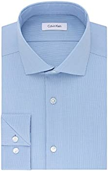 Calvin Klein Men's Slim Fit Non Iron Stretch Solid Dress Shirt