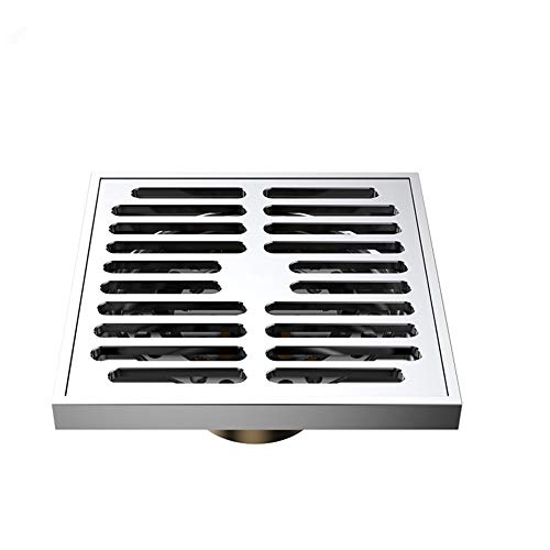 YBWEN Douche Vloerafvoer Anti-geur Vloerafvoer - Badkamer Douche Kamer Toilet Wasserij Tuin Buiten, Afneembaar Anti-verstopping Design(10 X 10 X 5cm) Vaste Douchekoppen