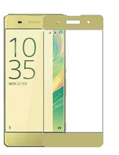 Todobarato24h Protector de Cristal Templado Compartible con Sony Xperia XA Ultra Dorado Completo Cubre Todo