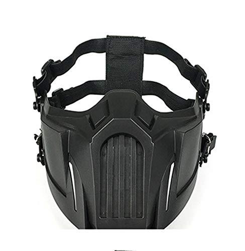 LinkStart Airsoft Maske Sub Zero Cosplay Maske Outdoor Spiel Halbmaske (schwarz)