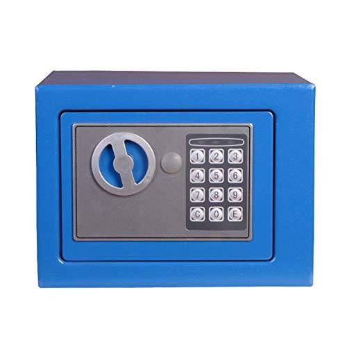 Caja fuerte electrónica para niños mini llave multifunción de contraseña electrónica con bloqueo de contraseña con indicador de voz inteligente, caja de dinero divertido regalo para niños