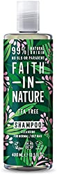 Faith In Nature Natural Tea Tree Shampoo, Cleansing, Vegan and Cruelty Free, No SLS or Parabens, For