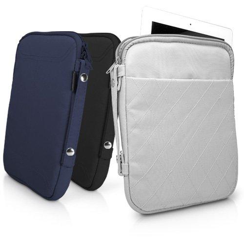 BoxWave gewatteerde iPad 2 draagtas, duurzaam nylon quilt patroon draagtas, gewatteerd voor extra bescherming - Apple iPad 2 hoezen en hoezen (Cool Grey)