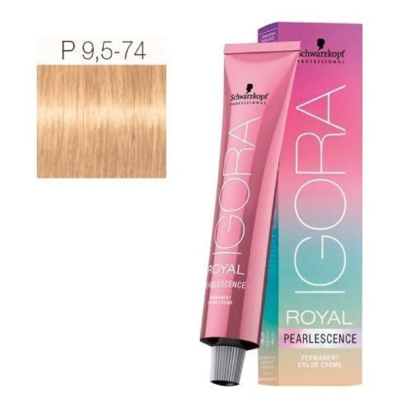 Schwarzkopf Professional Igora Royal Pearlesence Hair Color, 9.5-74, Pastel Amber, 60 Gram