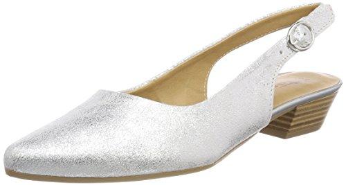 Tamaris Damen 29400 Slingback Sandalen, Silber (Silver Metall.), 37 EU