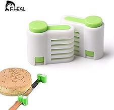 FHEAL 2Pcs 5 Layers Adjustable DIY Cake Slicer Bread Leveller Cutter Fixator Guide Leveler Cutting Pieces Fixator