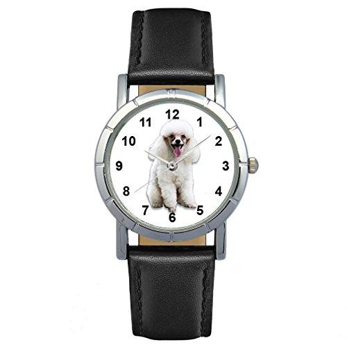 Timest - Caniche - Reloj para Mujer con Correa de Cuero Negro Analógico Cuarzo SA1953