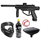 Maddog JT Stealth Semi-Automatic .68 Caliber Bronze CO2 Paintball Gun Starter Package - Black