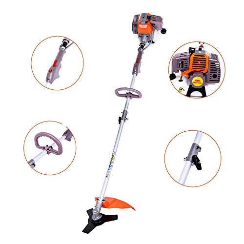 Check Out This shaofu Brush Cutter, 17-Inch Straight Shaft Gas Powered String Trimmer 2-cycle 43cc W...