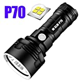 JSX Super puissante Lampe de Poche LED, L2 XHP50 Tactical Torch USB Rechargeable Linterna Lampe étanche Ultra Bright Camping Lantern,P70nobattery