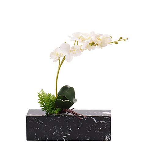 HongLianRiven ambachten beeldhouwkunst decoratie moderne minimalistische marmer simulatie bloemige muur kast verkoop office model kamer theekamer plank groene plant 4-4