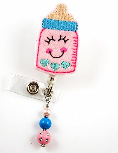 Adorable Baby Bottle - Nurse Badge Reel - Retractable ID Badge Holder - Nurse Badge - Badge Clip - Badge Reels - Pediatric - RN - Name Badge Holder