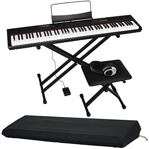 Artesia アルテシア デジタルピアノ (電子ピアノ) セット 88鍵 PERFORMER/BK ブラック (サスティンペダル/スタンド/椅子/ヘッドフォン付属) + GATOR製ピアノカバー付き