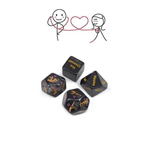 TM-mall Juguetes de Dados románticos para Juegos y Fiestas—Juguetes novedosos Que determinan tu Postura.