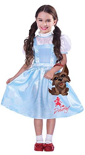 amscan 9906055 Warner Bros Wizard of Oz Dorothy - Disfraz infantil (6-8 años), multicolor
