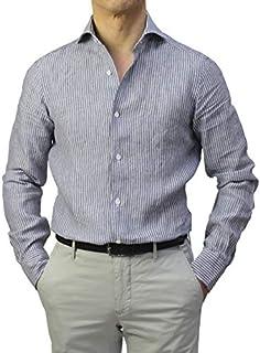 バルバ BARBA DANDY LIFE ダンディ ライフ セミワイドカラー シャツ リネン ストライプ柄 NEW BRUNO