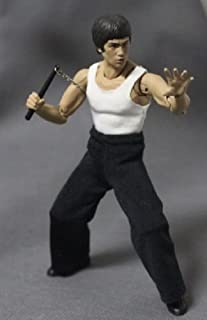 FIGLot 1/12 Scale Fabric Tank top and Black Pants Set for SH Figuarts Bruce Lee (Figure NOT Included)
