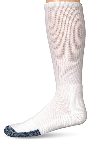 Thorlos Unisex B Basketball Thick Padded Over the Calf Sock, White, Large