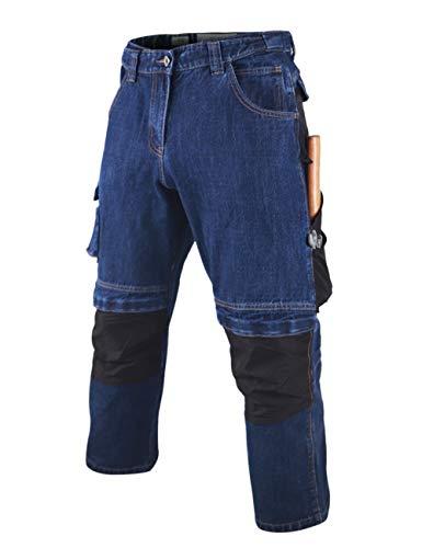 Muscle Alive Uomo Indumenti da Lavoro Utilità Pantaloni Heavyweight 100% Cotone vestibilità Morbida Pantaloni con Espandibile Cintura Color Dark Blue Size 38