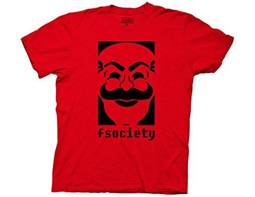 Fireti Mr Robot F Society Logo Adult T-Shirt Large