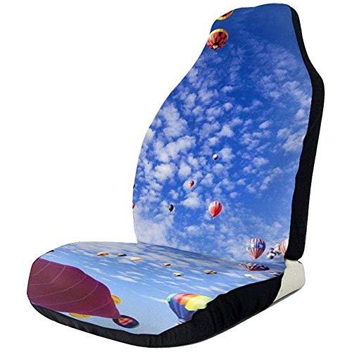 Joe-shop Kleurrijke Hot Air Ballon Bedrukte Auto Stoel Cover Protector Kussen Premium Covers
