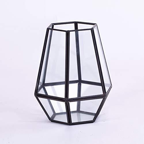Homevibes Portavelas con Colgante Decorativo, Forma Hexagonal, Farol para El Jardin, para Uso En Interiores Y Exteriores