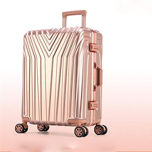 SFBBBO luggage suitcase Rolling Suitcase with Cup holder,Travel Luggage Bag,Universal wheel trip Trolley Case 29' Golden