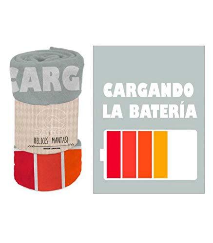 Baggy deken van coralin, 120 x 160 cm, accu, meerkleurig, 123 x 160 cm