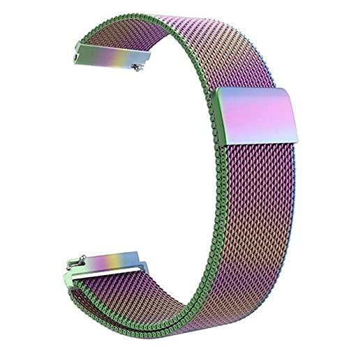 Correa magnética de metal para reloj de malla milanesa con cierre rápido para mujeres y hombres, 16 mm, 18 mm, 20 mm, 22 mm, 24 mm (colorido, 24 mm)