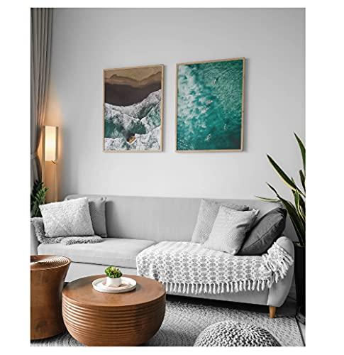 LAMINAHOME juego de 2 láminas decorativas para enmarcar, tamaño grande 30x40cm diseño playas y naturaleza - 2x Pósters para salón, comedor, habitación, dormitorio, pasillo