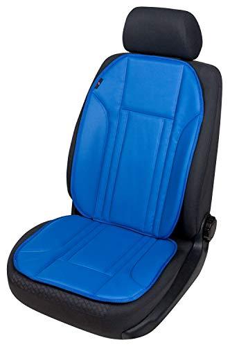Walser 12835 Sitzaufleger aus Kunstleder, Universal Sitzauflage, Autositzaufleger in Blau, Autositzauflage Ravenna