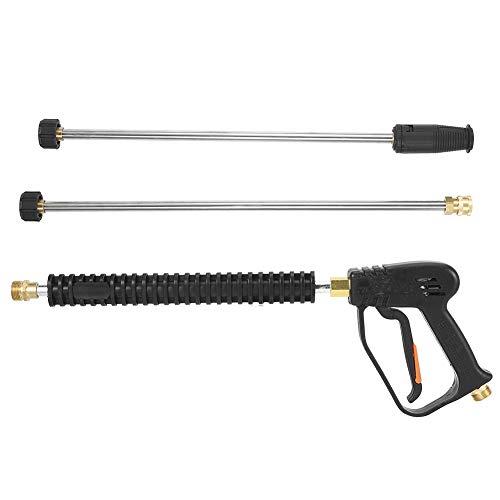 Pistola de pulverización de agua, lavadora de coches de alta presión, pistola de pulverización de agua, lavadora de 3000psi con 2 varillas de extensión